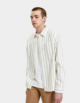 Saturdays NYC Mickey Stripe Shirt in Ivory