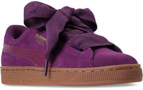 Puma Girls' Suede Heart Snk Casual Sneakers from Finish Line