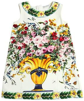 Dolce & Gabbana Maiolica Printed Cotton Interlock Dress