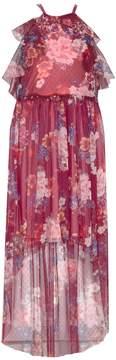 Bonnie Jean Girls 7-16 Sleeveless Ruffled Floral Print Maxi Dress