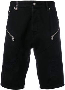 Just Cavalli zip-embellished denim shorts