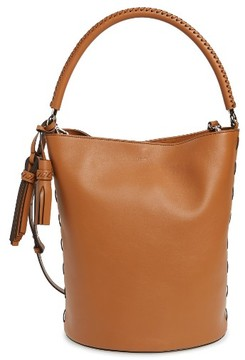 Max Mara Bobag Leather Bucket Bag - Brown
