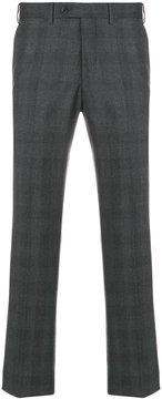 Armani Collezioni check tailored trousers