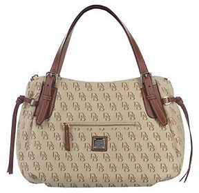 Dooney & Bourke Signature Large Nina Bag with Leather Trim - ONE COLOR - STYLE