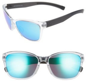 adidas Women's Excalate 58Mm Mirrored Sunglasses - Crystal Clear/ Blue Mirror