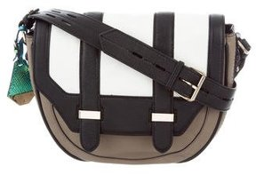 Rebecca Minkoff Tricolor Leather Messenger Bag - BROWN - STYLE