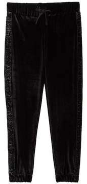 Vigoss Velour Sparkle Tux Stripe Jogger Pant (Big Girls)