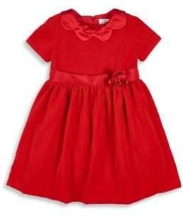 Florence Eiseman Little Girl's Velvet Short Sleeve Dress