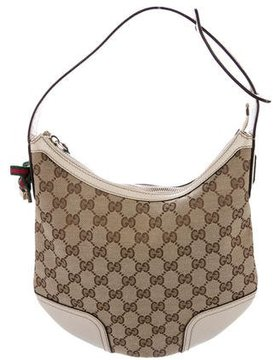 Gucci GG Canvas Princy Hobo - BROWN - STYLE