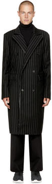 Juun.J Black Pinstripe Coat