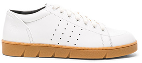 Loewe Leather Sneakers in White.