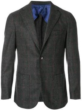 Barba check classic blazer