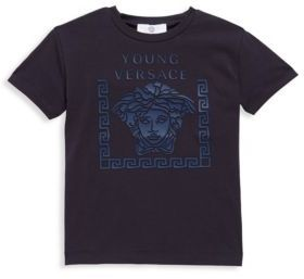Versace Little Boy's & Boy's Knit Graphic Tee