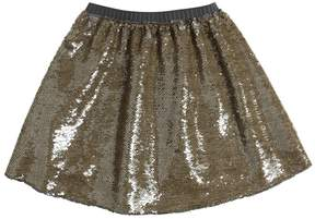 La Stupenderia Sequin Embroidered Twill Skirt