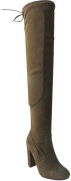 Bamboo Olive Hilltop Over-the-Knee Boot