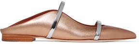 Malone Souliers Maureen Metallic Leather Point-toe Flats - Gold