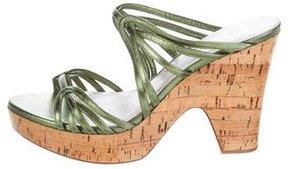 Christian Dior Leather Platform Sandals w/ Tags