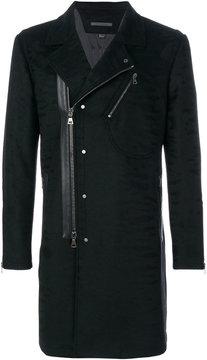John Varvatos off-centre zipped coat
