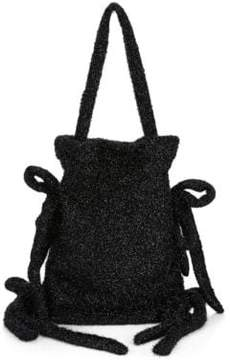 Simone Rocha Bow Accent Tinsel Drawstring Bag