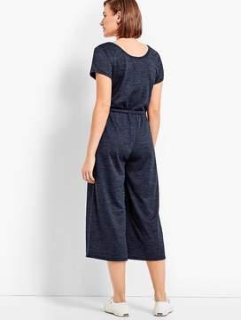 Talbots Soft-Drape Jersey Cropped Jumpsuit
