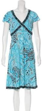 Tahari Arthur S. Levine Printed Knee-Length Dress