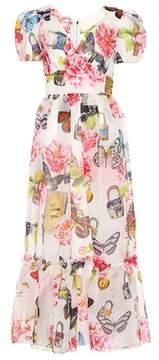 Dolce & Gabbana Floral-printed silk midi dress