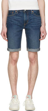 Levi's Levis Blue Denim Cut Off 511 Shorts