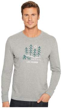 Life is Good Night Woods Long Sleeve Crusher Tee Men's T Shirt
