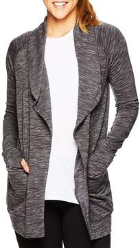 Gaiam Women's Piper Marled Open Front Cardigan