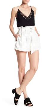 Flying Tomato Pinstripe Belted Shorts
