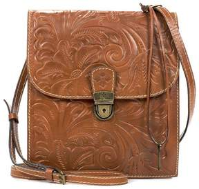 Patricia Nash Heritage Collection Floral-Embossed Andrea Cross-Body Organizer Bag