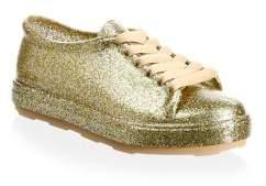 Mini Melissa Kid's Glossy Low-Top Sneakers
