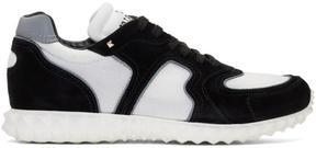 Valentino Black and White Garavani Hive Sneakers