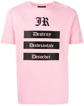 John Richmond destroy logo T-shirt