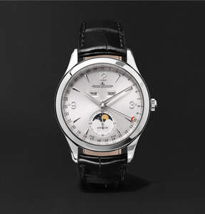 Jaeger-LeCoultre Master Calendar Stainless Steel And Alligator Watch