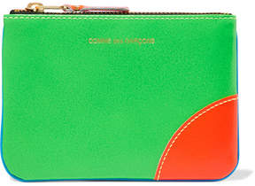 Comme des Garçons - Neon Leather Wallet - Blue