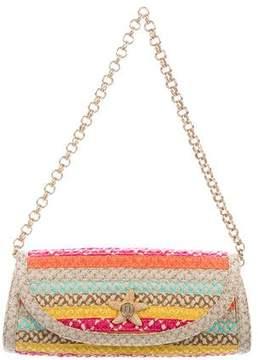 Eric Javits Multicolor Straw Flap Bag