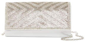 Jessica McClintock Chlow Chevron Embellished Clutch