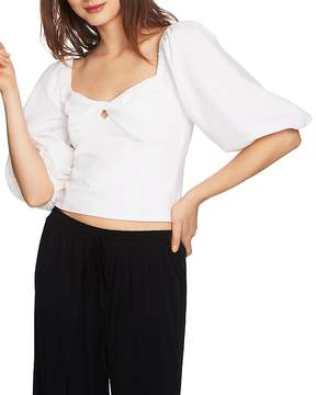 1 STATE 1.STATE Puff-Sleeve Cropped Top