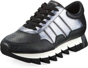 Dolce & Gabbana Men's Chunky Mixed Leather Sneakers