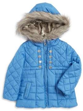 Jessica Simpson Faux Fur-Trimmed Puffer Jacket