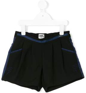 Karl Lagerfeld embroidered design shorts