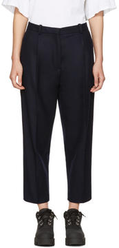 Acne Studios Navy Tabea Cropped Trousers