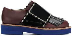 Marni strap lace-up fringed shoes