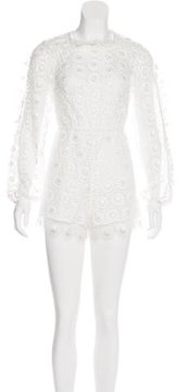 Alice McCall Floral Lace Long Sleeve Romper w/ Tags