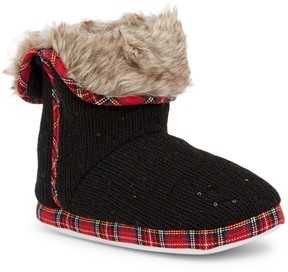 Isaac Mizrahi Sequin Detail Faux Fur Lined Slipper