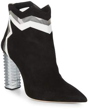 Aperlaï Women's Jagged Suede Ankle Boots