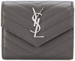 Saint Laurent compact tri-fold wallet - GREY - STYLE