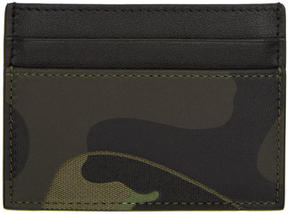 Valentino Navy Garavani Camo Card Holder