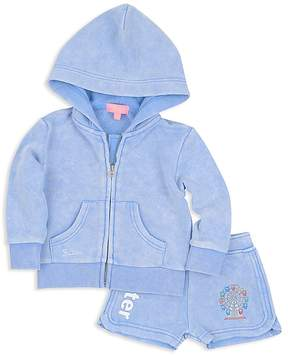 Butter Shoes Girls' Carnival Appliqué Hoodie & Shorts Set - Little Kid